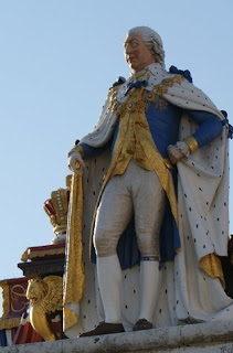Commemorative statue of George III  Weymouth seafront