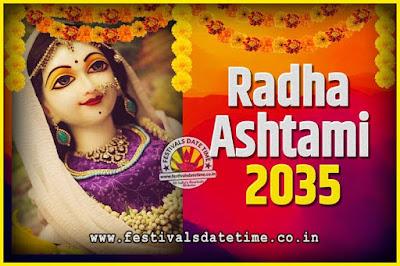 2035 Radha Astami Pooja Date and Time, 2035 Radha Astami Calendar