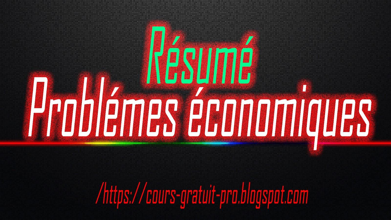 r u00e9sum u00e9 de probl u00e8mes economiques   pdf