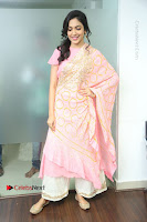 Actress Ritu Varma Pos in Beautiful Pink Anarkali Dress at at Keshava Movie Interview .COM 0055.JPG