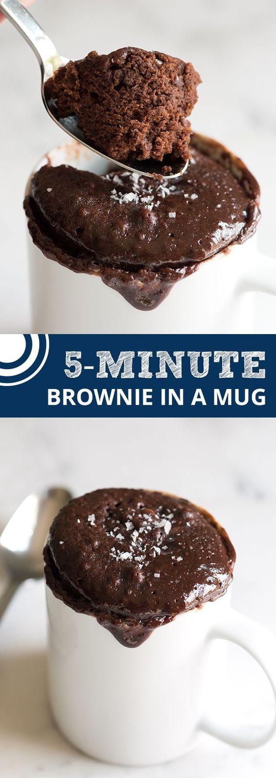 Easy Microwave Brownie in a Mug Recipe
