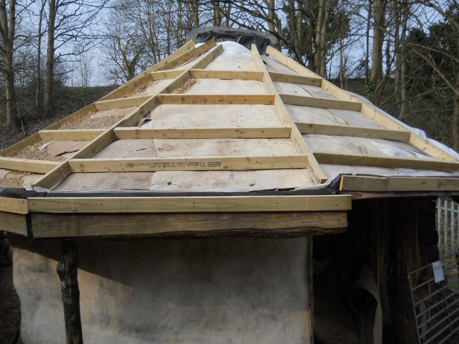 Fixing The Reciprocal Roof On The Boiling Wells Roundhouse
