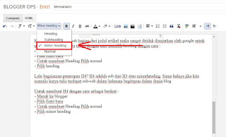 Memahami Heading Tag H1, H2, H3 Dan H4 Pada Blogger
