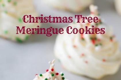 Christmas Tree Meringue Cookies #christmas #cookies