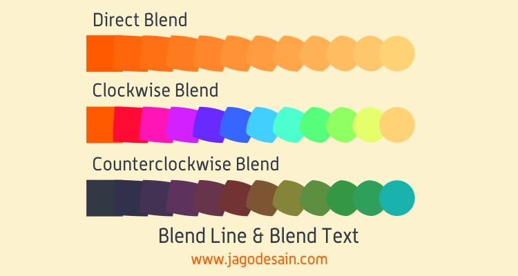 Mengenal Lebih Lanjut Blend Tool - Membuat Create Pallete Warna
