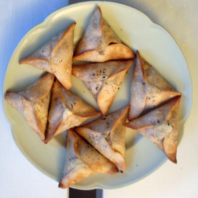 empanadillas de queso y cebolla