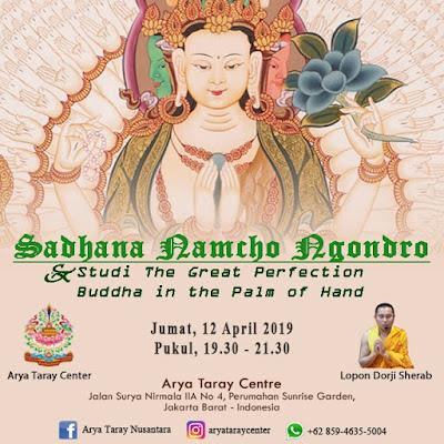 Sadhana Namcho Ngondro & Studi The Great Perfection Buddha in the Palm of the Hand