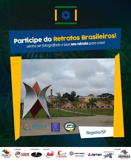 Projeto Retratos Brasileiros estará neste dia 09/02 em Registro-SP