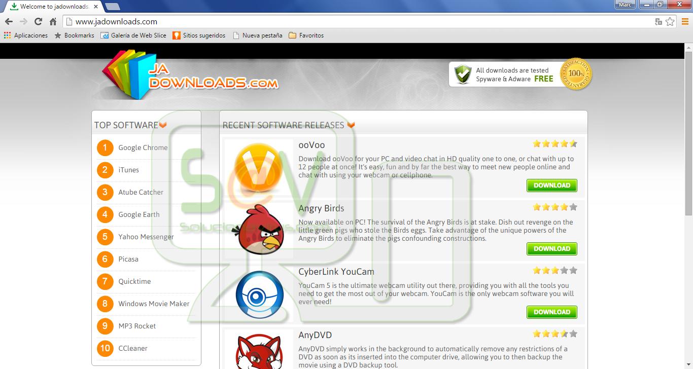 Remove Jadownloads com pop-ups - En Solucionavirus com