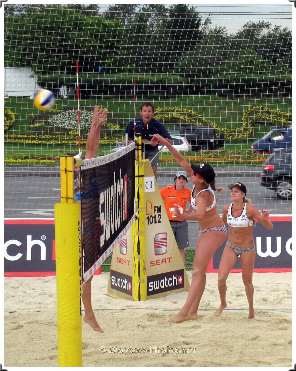 Attack Combination of USA Beach Volleyball Team