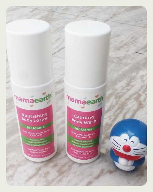 Review of Mama Earth Calming Body Wash and Nourishing Body Lotion
