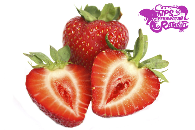 cara menghilangkan ketombe menggunakan buah strawberry