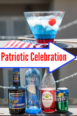 The Patriotic Celebration has red, white and blue alcohol to make it look amazing!
