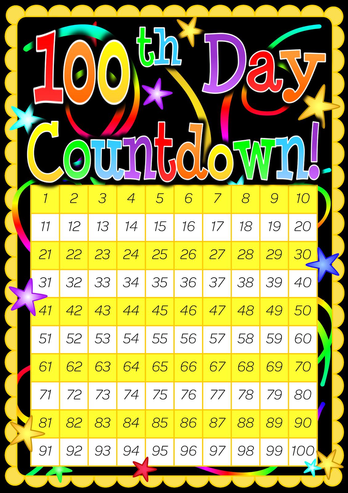 Classroom Treasures 100 Day Countdown