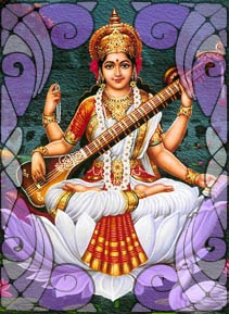 Illustration of Saraswati | Wicca, Magic, Witchcraft, Paganism