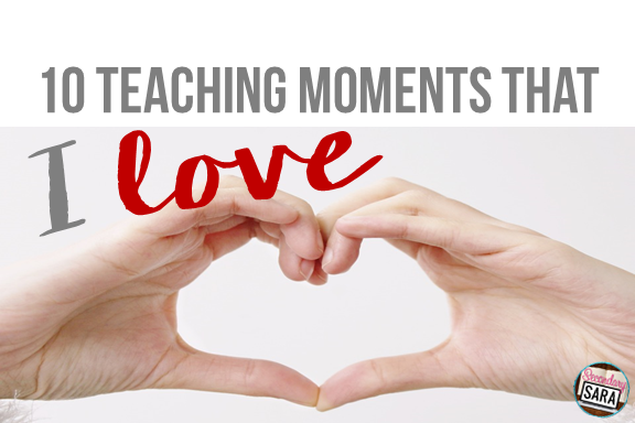 We all have those tough days in teaching when we really wonder what we're doing...and then little moments happen to remind us why we love teaching. As part of a secondary blogger link-up, I'm sharing 10 teaching moments that I love, and I hope you can relate!