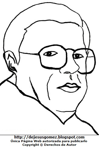 Dibujo de Washington Delgado para colorear pintar imprimir. Dibujo de Washington Delgado de Jesus Gómez