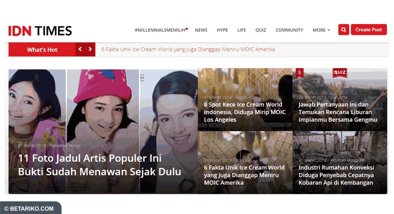 Ulasan Singkat IDN Times Situs Berita Generasi Millenials