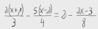 33. Ecuación de primer grado (fracciones)