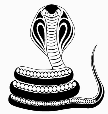 Snake cobra tattoo stencil