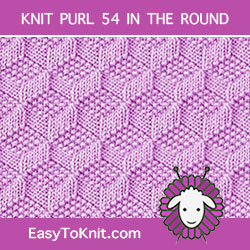 Tumbling Moss Block Knit Purl, easy to knit in the round.
