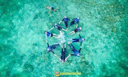 snorkeling di dua spot populer di pulau pari