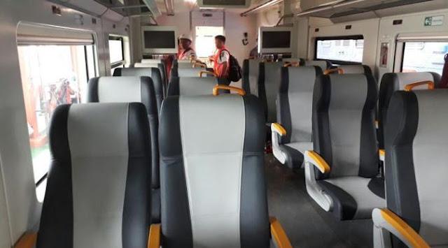 Penampakan KA Bandara Soekarno Hatta