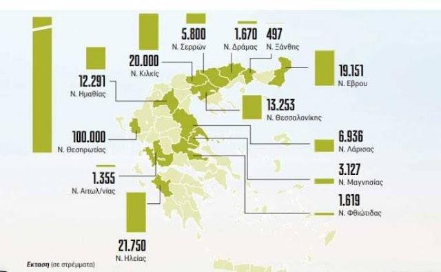 Ποιοι θα λάβουν δωρεάν  στρέμματα από το κράτος - Τα περισσότερα βρίσκονται στη Θεσπρωτία