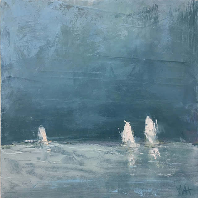 sailboat painting by Whitney Heavey