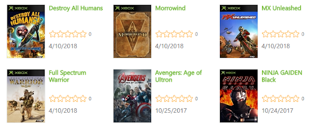 Se filtran supuestos nuevos retrocompatibles de Xbox: Morrowind, Destroy All Humans...