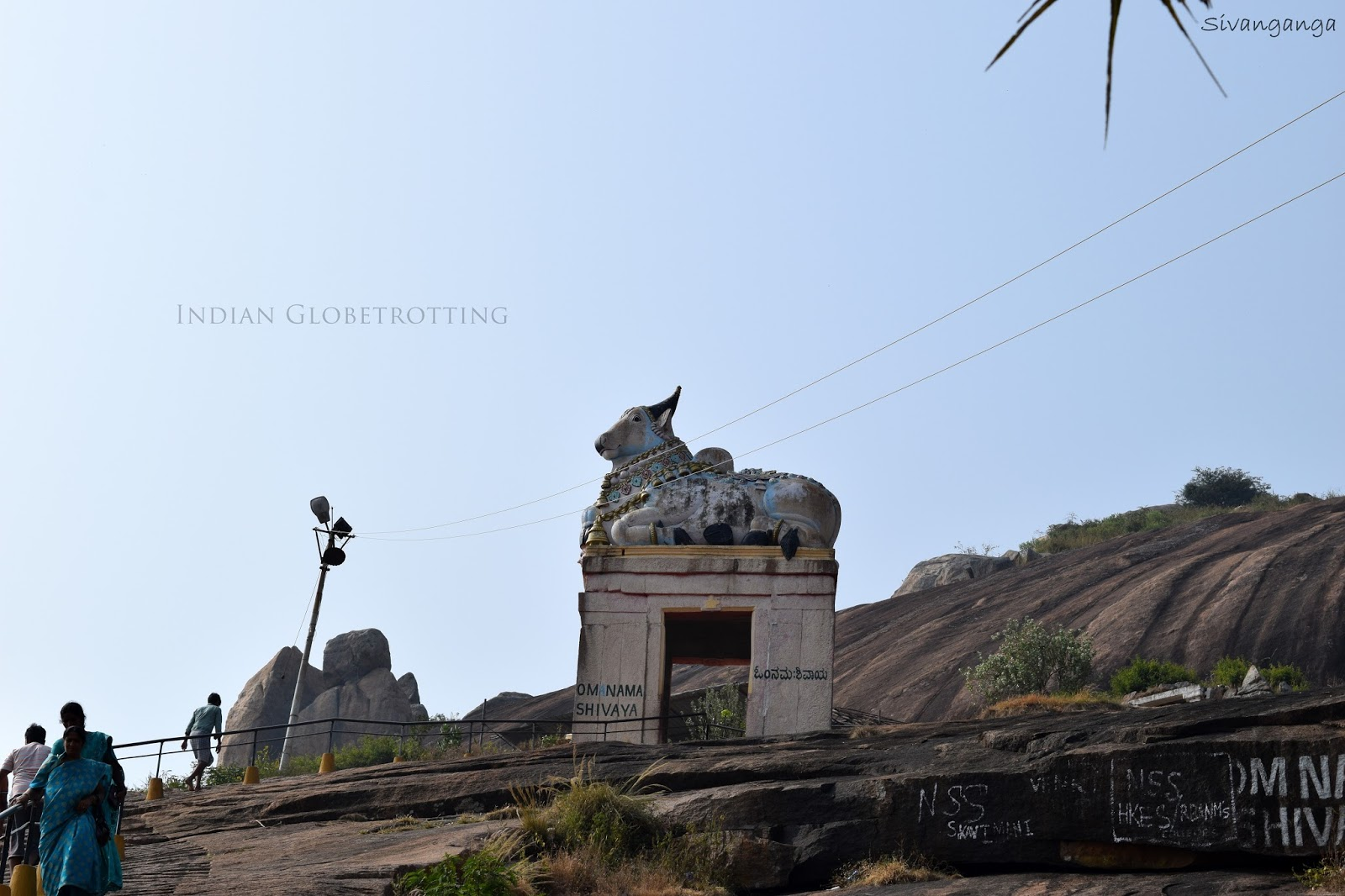Nandi Statue during the Trekking to shivaganga betta