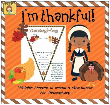 http://www.teacherspayteachers.com/Product/FREEBIE-Thanksgiving-Pennant-Banner-Worksheet-956645