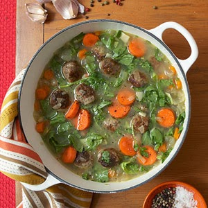 Healthy Meatball Escarole Soup