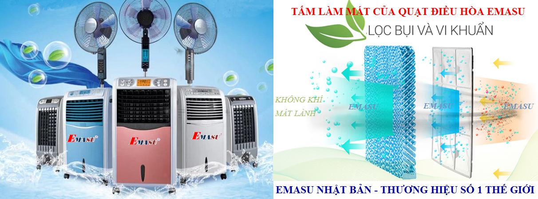 Quạt làm mát không khí Emasu giúp giảm từ 7-12 độ C