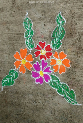 flower rangolis for new year