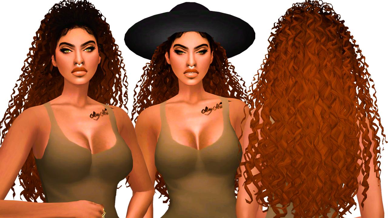 My Sims 4 Blog: Phaedra Hair by EbonixSimblr