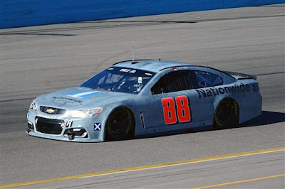 Dale Earnhardt Jr. Drives His Car During Testing at Phoenix International Raceway.
