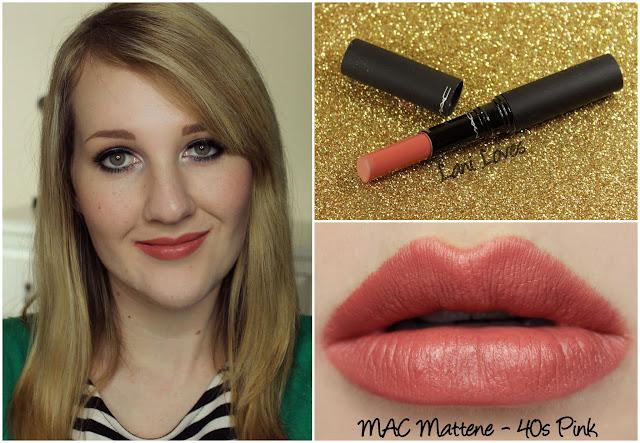 MAC 40s Pink Mattene Lipstick swatch