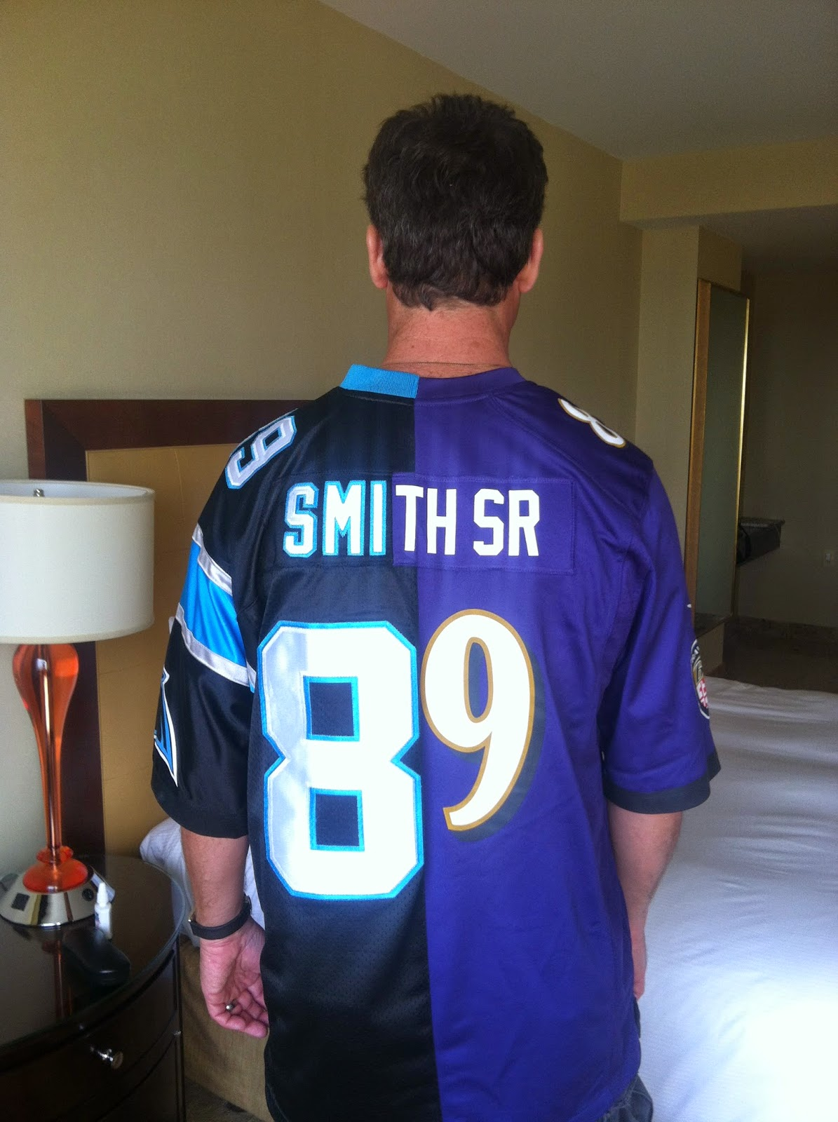This is undoubtedly the most creative Steve Smith jersey I have ever seen.  The person in the picture d89d55f92c