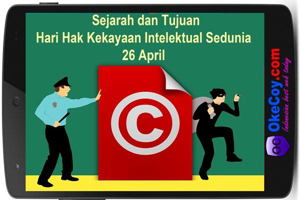 Hari Hak Kekayaan Intelektual Sedunia 26 April Hari Ini : Sejarah dan Tujuan