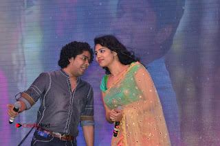 Singer Manisha Eeraini Stills in Half Saree at Nenu Local Audio Launch  0008.JPG