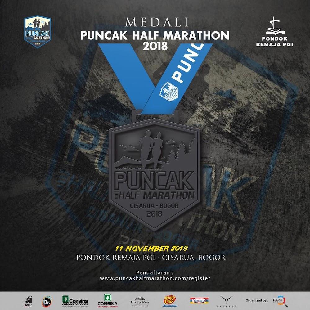 Puncak Half Marathon • 2018 Medali