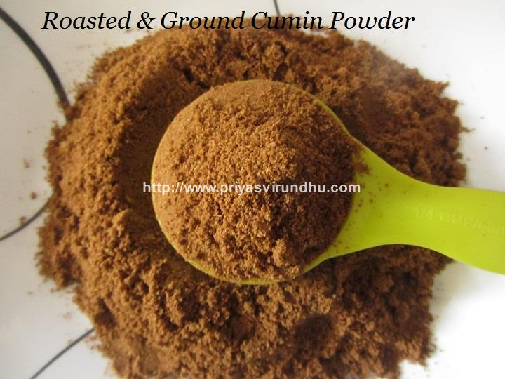 Priya's Virundhu....: Homemade Roasted Cumin Powder/How to ...