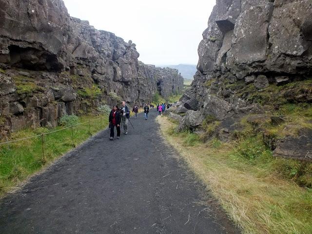 falla de las placas tectónicas Islandia