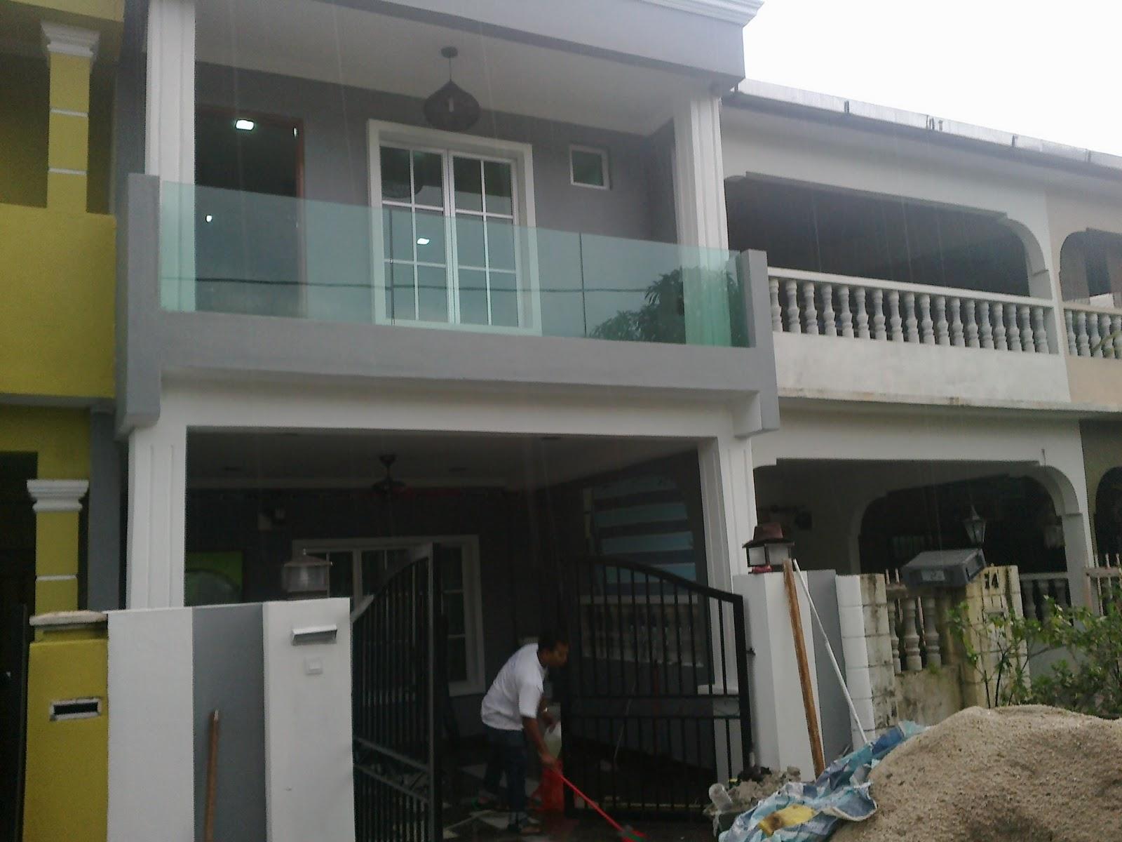 Reesha Home Renovation Penambahan Bahagian Depan Dan Atas & Design Rumah Teres 2 Tingkat | Desainrumahid.com