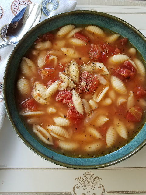 Use your Pantry and serve this easy pasta and bean soup.
