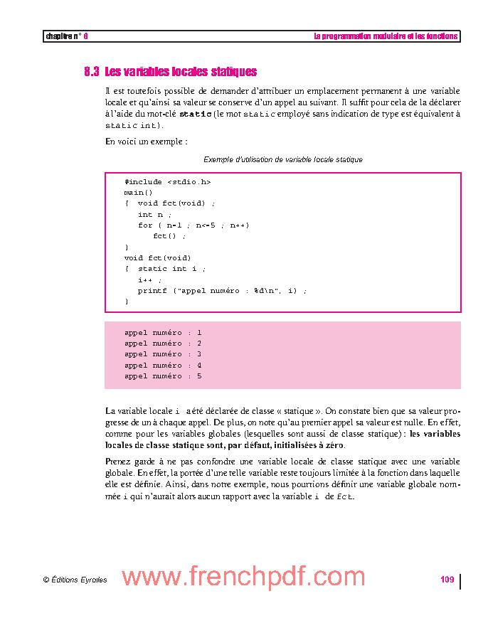 Programmer en Langage C: cours et exercices corrigés en pdf gratuitement