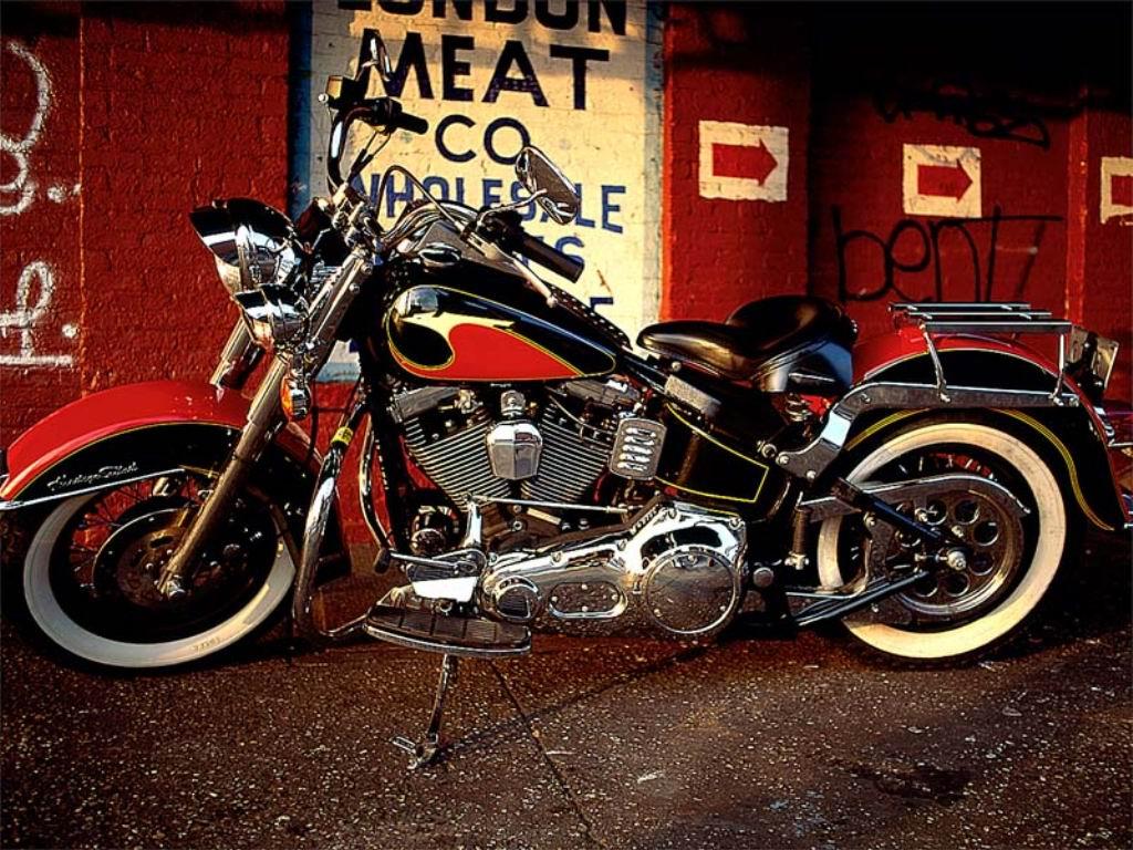 Old Harley Davidson: Harley Davidson Classic: Harley Davidson Softail