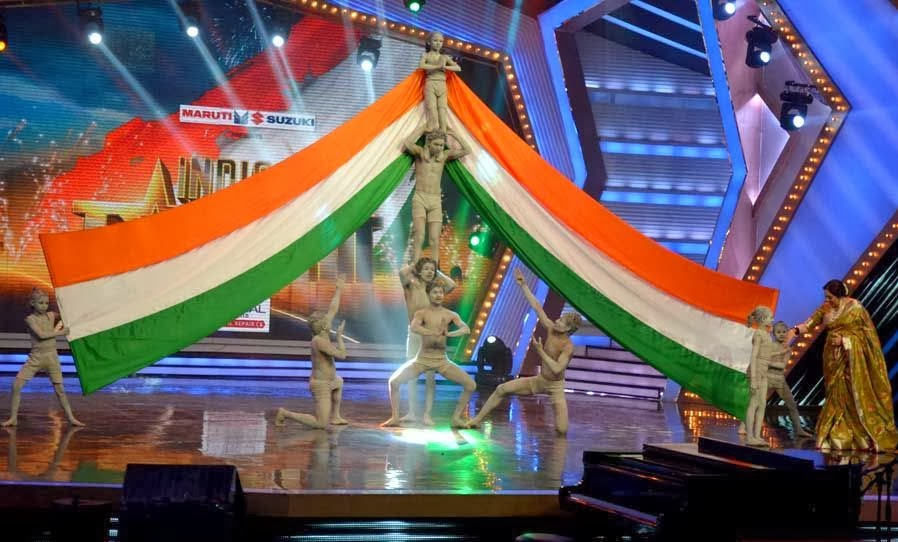A performance with Tiranga, Indian Flag on Grand Finale Night of India's Got Talent