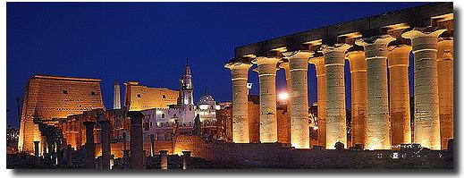 Bernard Grua, temple de Louksor, Egypte, heure bleue